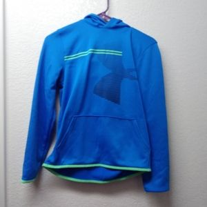 Under Armour Blue Youth Hoodie. Youth Size L